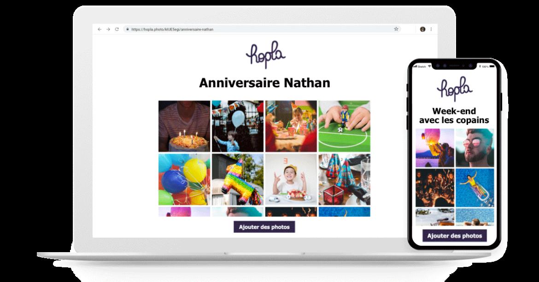 Hopla - service de partage de photos